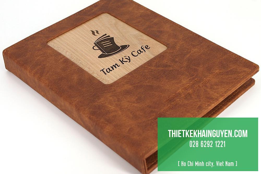 Thiết kế menu cafe bằng gỗ