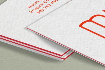 In name card cao cấp dạng bồi viền màu bằng giấy mỹ thuật