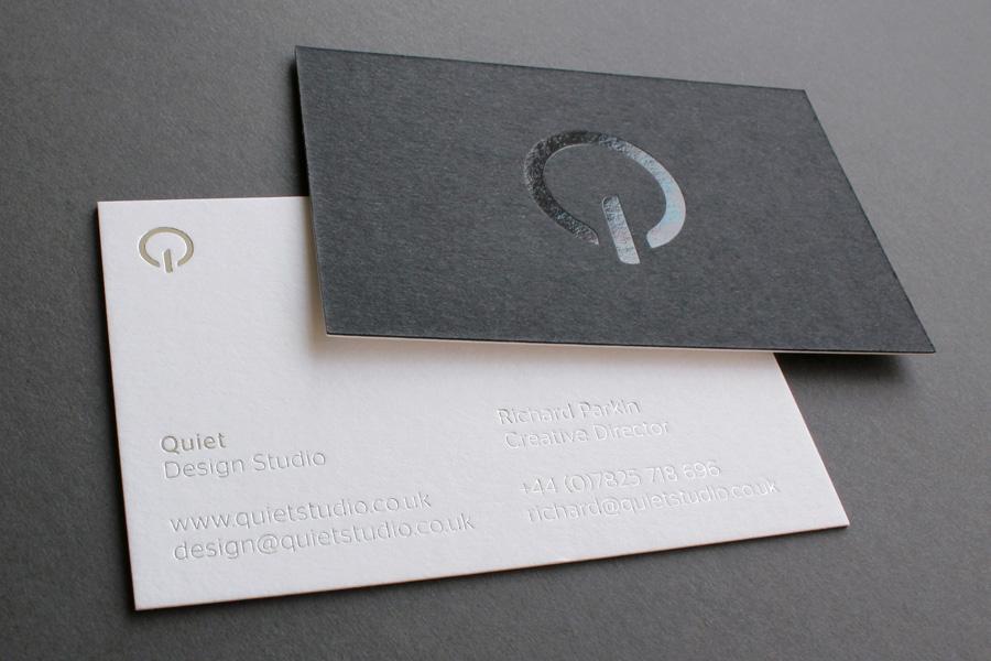 Mẫu name card cao cấp - name card ép kim
