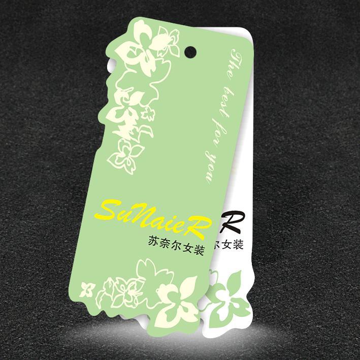 Mẫu in tag giá bế hình hoa