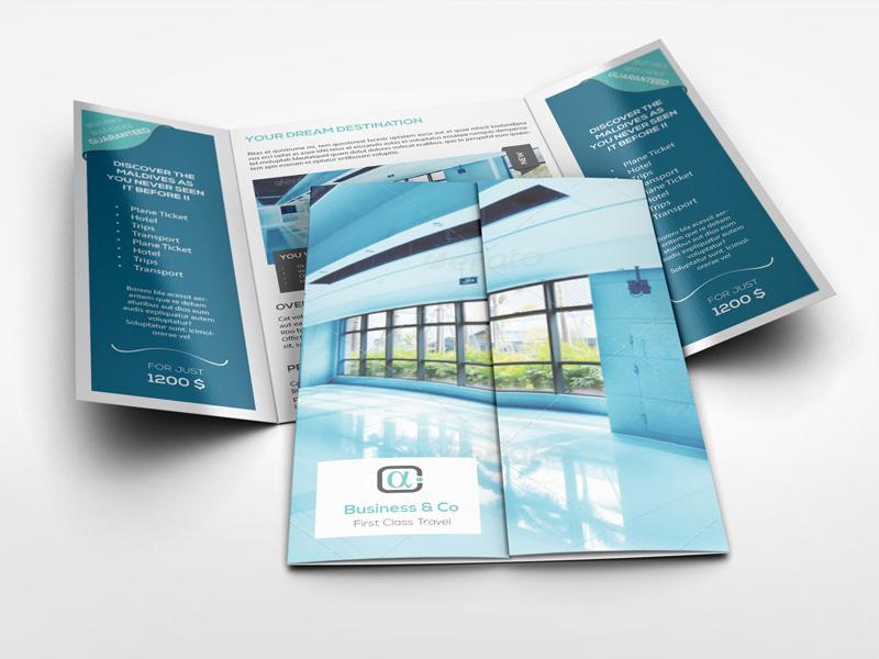 In brochure số lượng ít - brochure gấp cửa sổ
