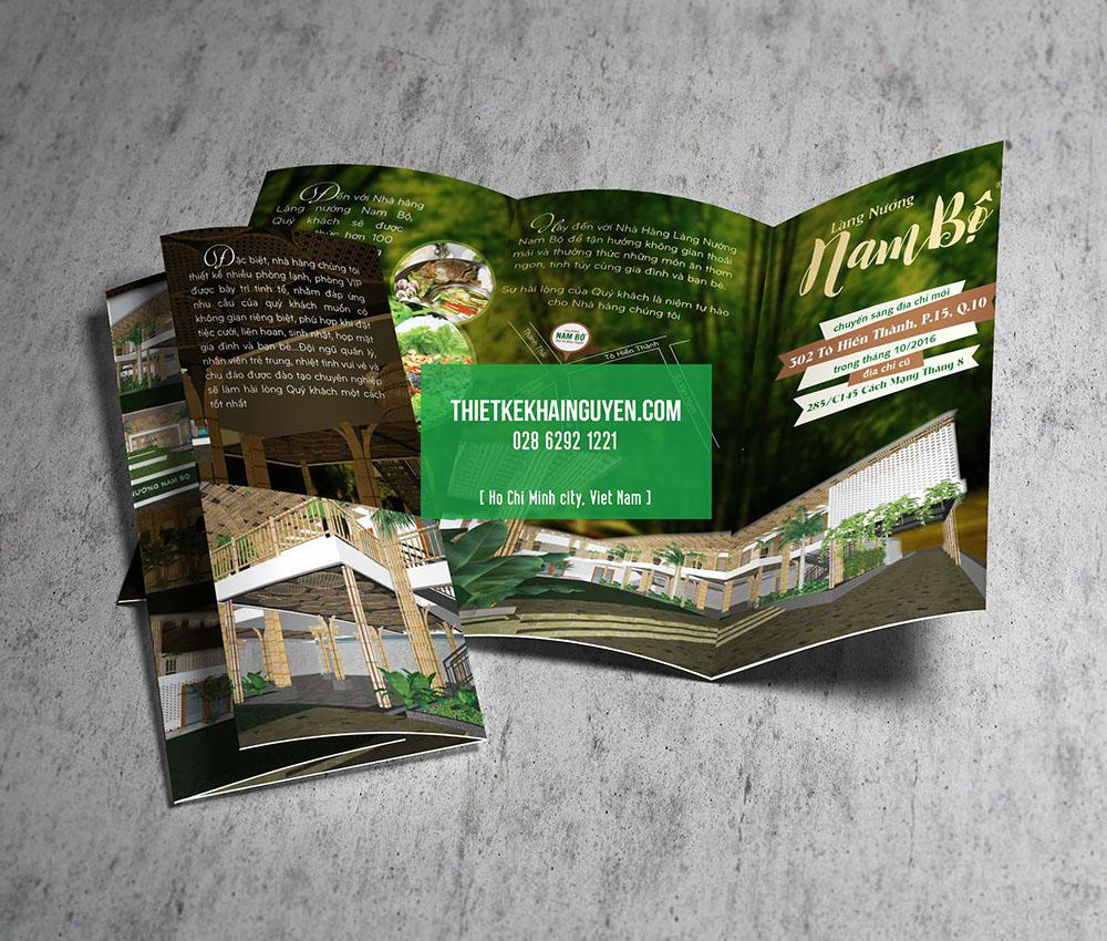 Mẫu làm brochure làng nướng Nam Bộ nổi tiếng
