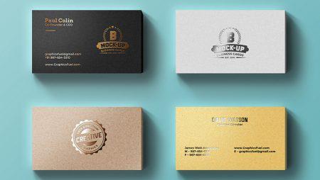 15 mẫu name card ép kim đẹp sắc nét & đầy màu sắc