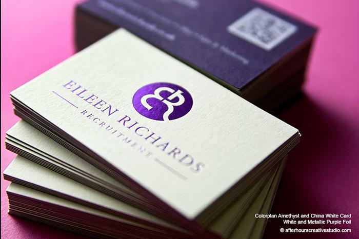 Mẫu name card ép kim màu tím đặc biệt