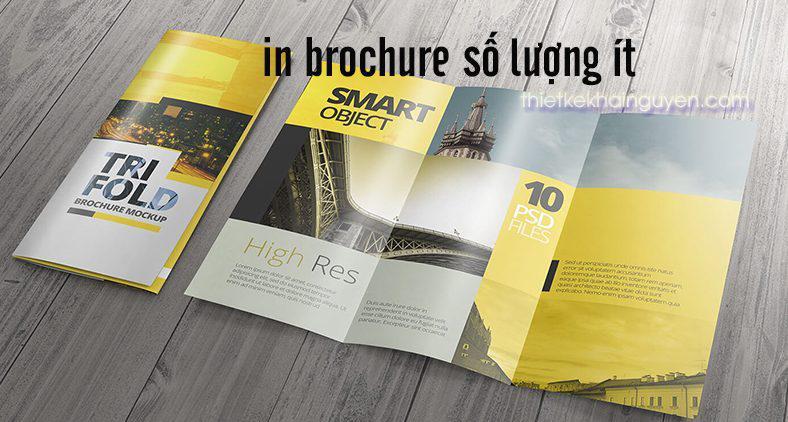 Xưởng in brochure số lượng ít tại hcm