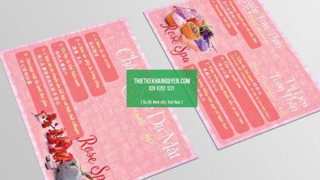 Mẫu thiết kế menu Spa Beauty, menu Nail đẹp phần 1