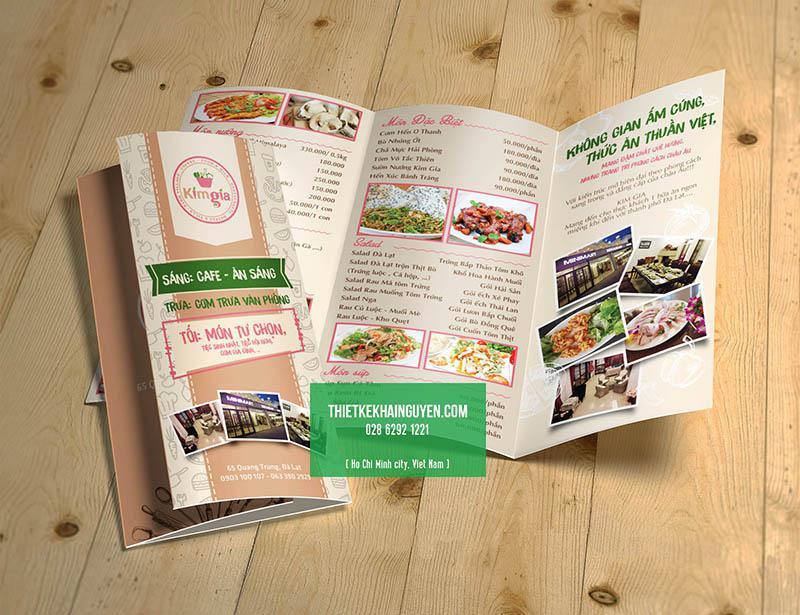 Dạng làm menu cầm tay cho nhà hàng cực chất