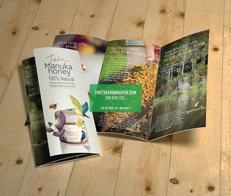 Mẫu thiết kế brochure quảng cáo mật ong