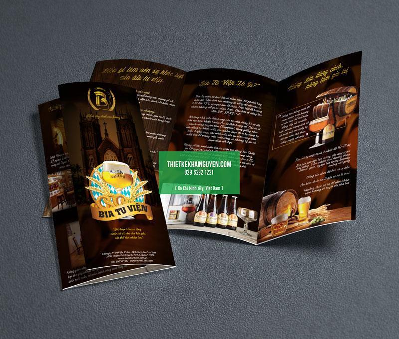 Mẫu thiết kế kế brochure nhà hàng - Bar
