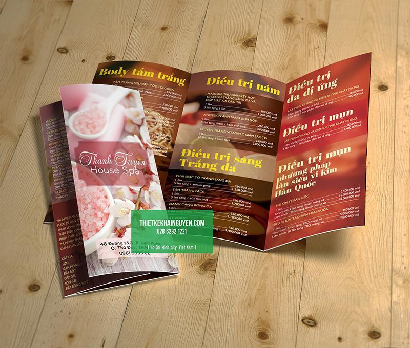 Mẫu thiết kế brochure đẹp - brochure spa