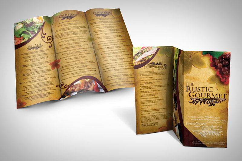 Mẫu thiết kế brochure nhà hàng dạng brochure thông tin