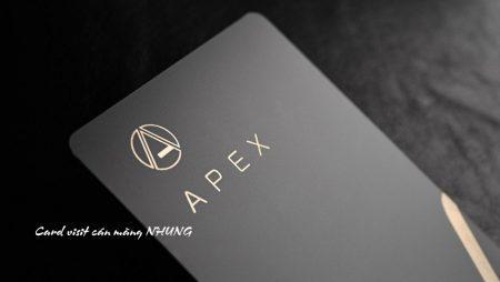 Sản phẩm mới: danh thiếp, name card, card visit cán màng nhung