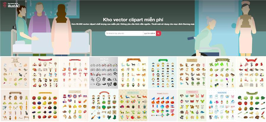 Website tải vector miễn phí với illustAC