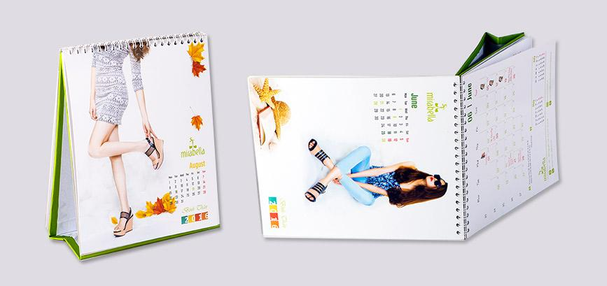Thiết kế lịch để bàn thời trang Fashion Calendar