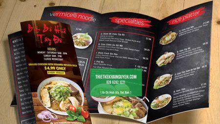 9 mẫu thiết kế brochure nhà hàng đẹp & chuyên nghiệp tại tphcm