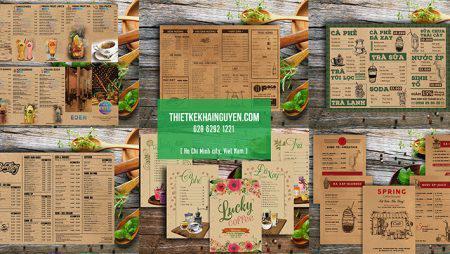 Thiết kế menu kraft – menu nhà hàng cổ điển – menu coffee ấn tượng