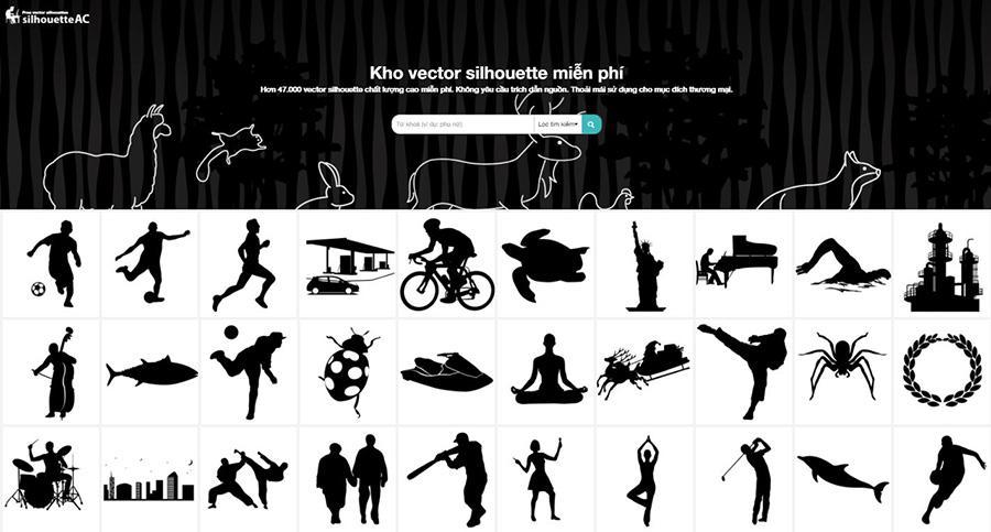 Tải file vector silhouette miễn phí