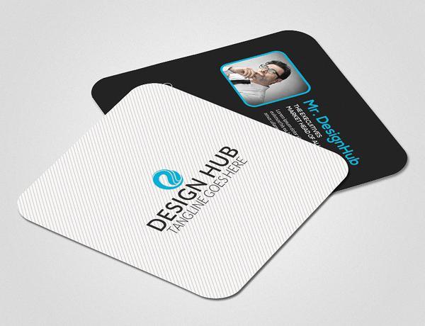 Mẫu card visit hình vuông có hình avatar