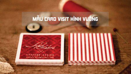 Mẫu card visit hình vuông – name card vuông ấn tượng
