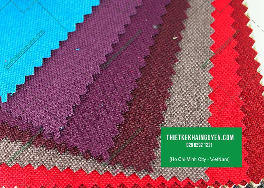Mẫu vải linen màu tím, đỏ, xám, xanh