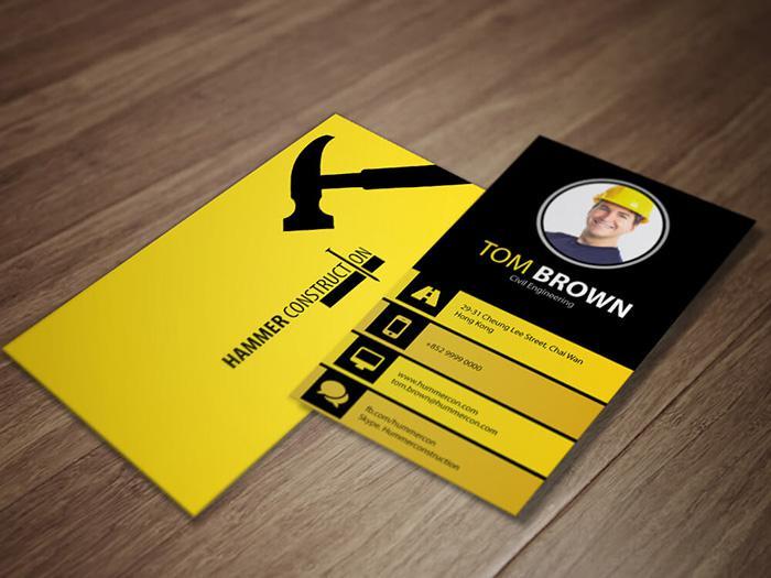 Thiết kế name card công ty với avatar
