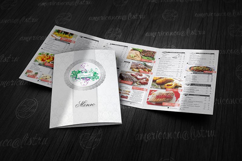 In thực đơn nhà hàng khổ lớn - menu gấp 3