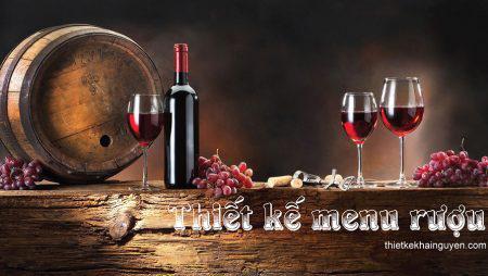 Mẫu thiết kế menu rượu nhà hàng, resort, quán bar, beer club