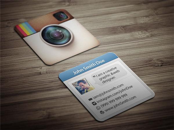 In card visit hình vuông cá tính cho Photographer
