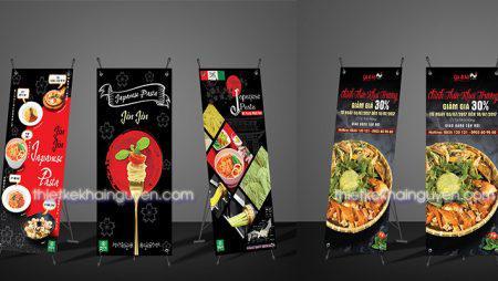 Mẫu thiết kế poster món ăn cực đẹp – mẫu standee chữ x
