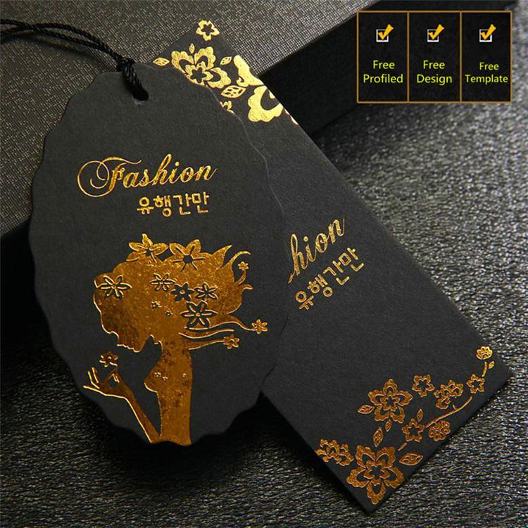 Thẻ treo cao cấp: chọn giấy đen ép kim vàng toàn bộ nội dung