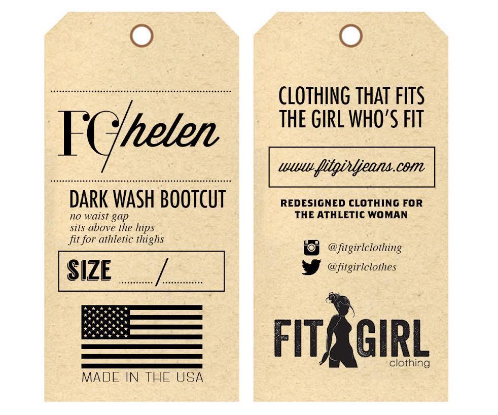 Thiết kế tag quần áo giấy kraft