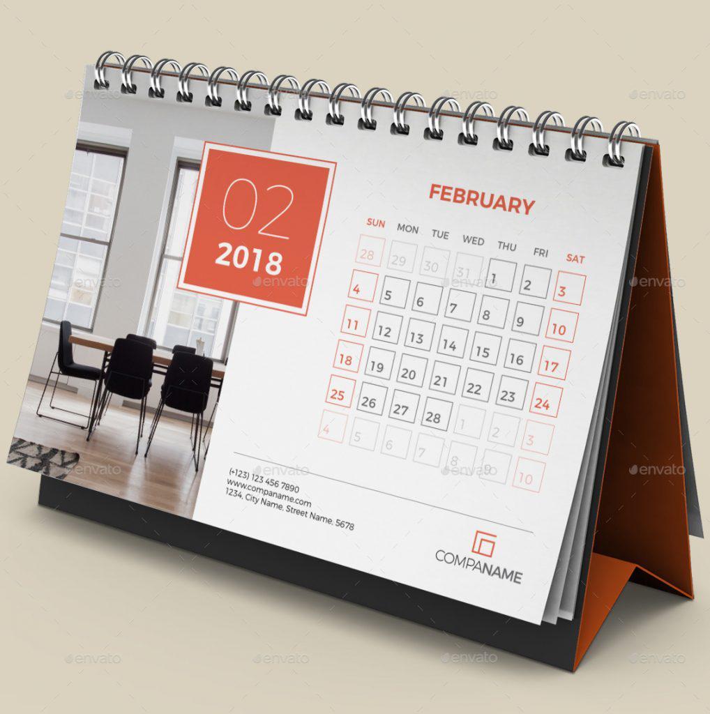 Thiết kế kế lịch bàn 2018