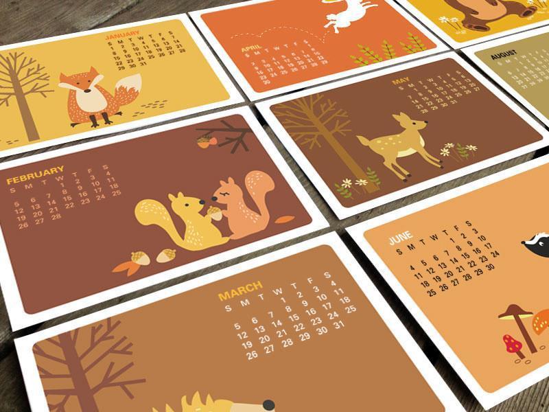In lịch để bàn theo yêu cầu - thiết kế lịch để bàn cho bé