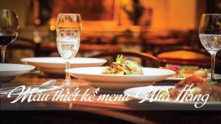 Giới thiệu mẫu thực đơn nhà hàng đẹp – tinh tế – sang trọng.