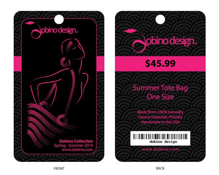 Thiết kế tag treo cho shop thời trang