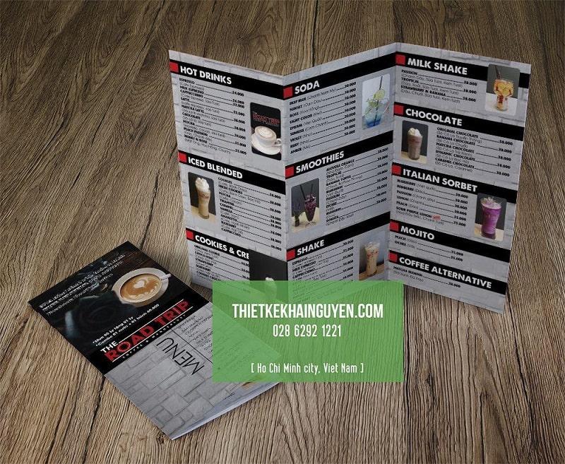 Thiết kế brochure cho quán cà phê