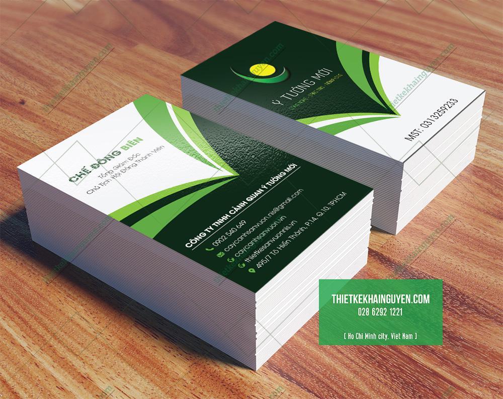 Thiết kế card visit công ty dạng đứng