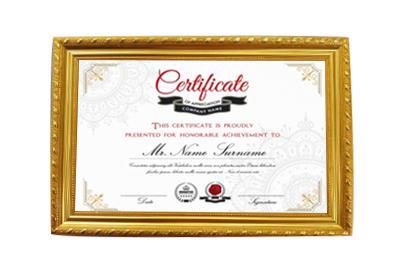Khung giấy chứng nhận, bằng khen mạ vàng