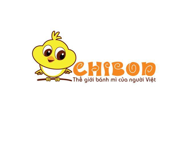 Logo bánh mì với biểu tượng chú gà con đáng yêu