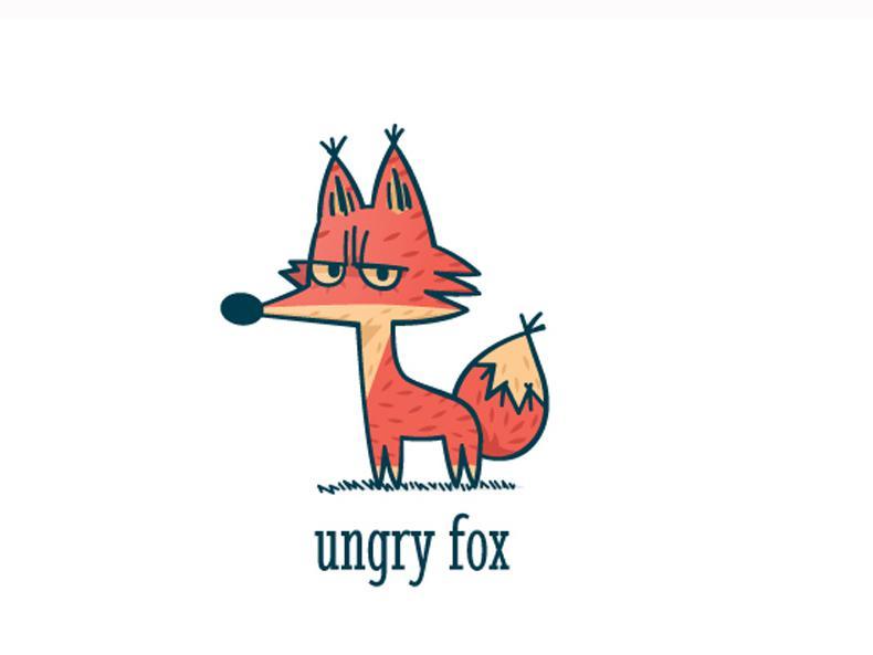 Mẫu thiết kế logo hoạt hình được cách điệu từ hình tượng chú cáo