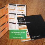 Dạng menu 1 tờ đặc sắc - in menu tphcm