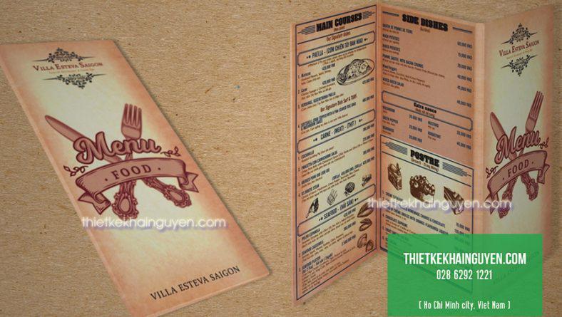 Làm menu một tờ giá rẻ tphcm