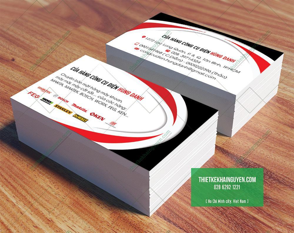 In name card cho cửa hàng điện gia dụng