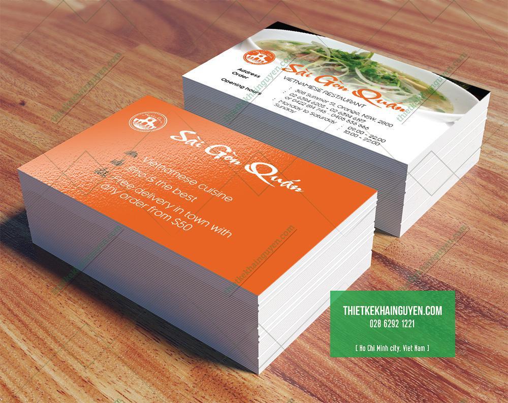 Thiết kế name card quán ăn