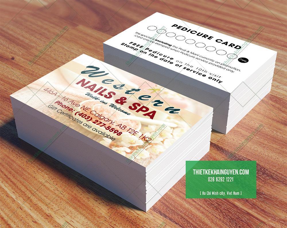 Name card nails Spa kết hơp cùng thẻ tích điểm