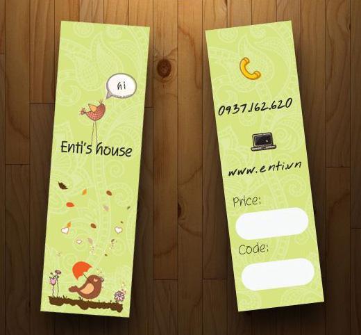 Mẫu thiết kế thẻ treo hình que siêu cute