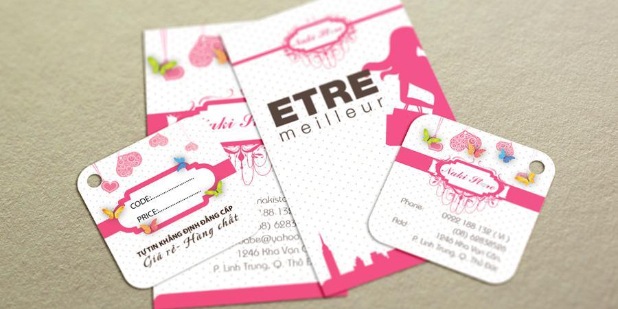 Bộ thiết kế thẻ treo & card visit đồng bộ