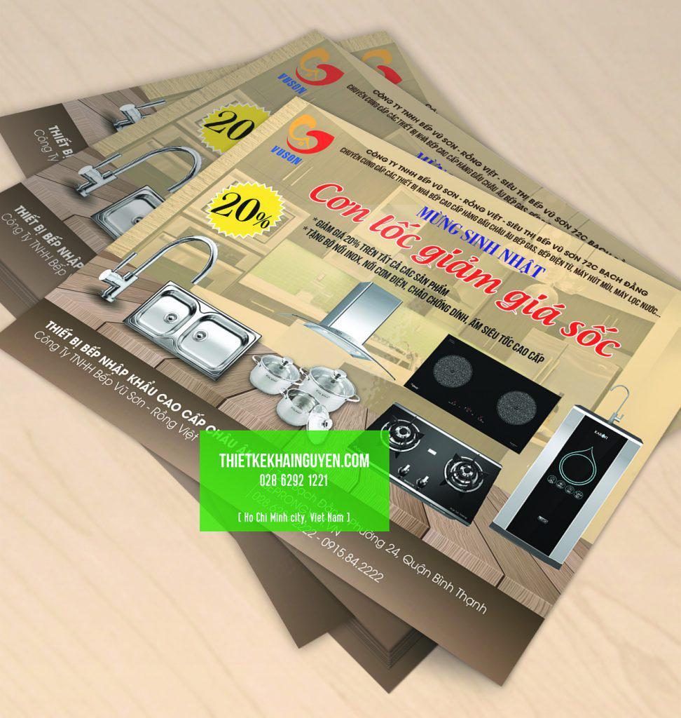 Tờ rơi quảng cáo dịch vụ giảm giá của trung tâm điện máy