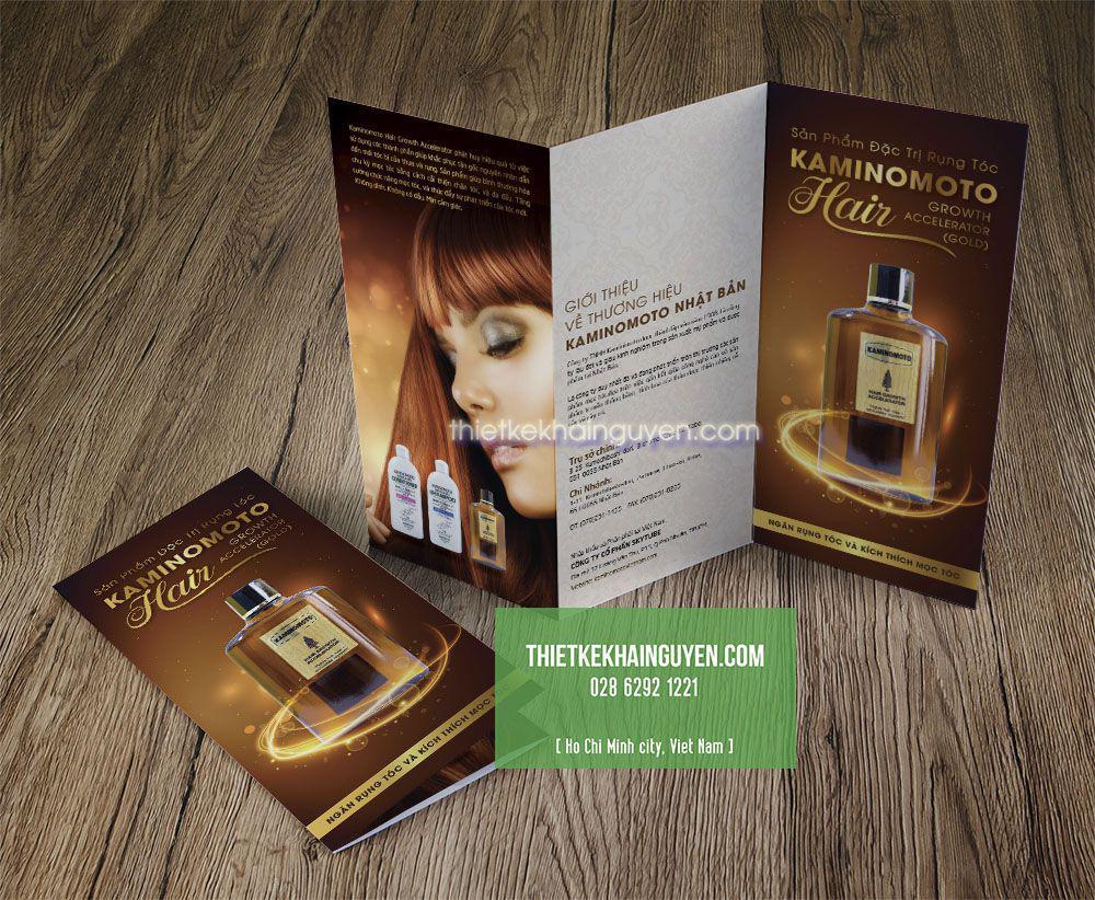 Mẫu brochure A4 gấp 3 giới thiệu về sản phẩm làm đẹp