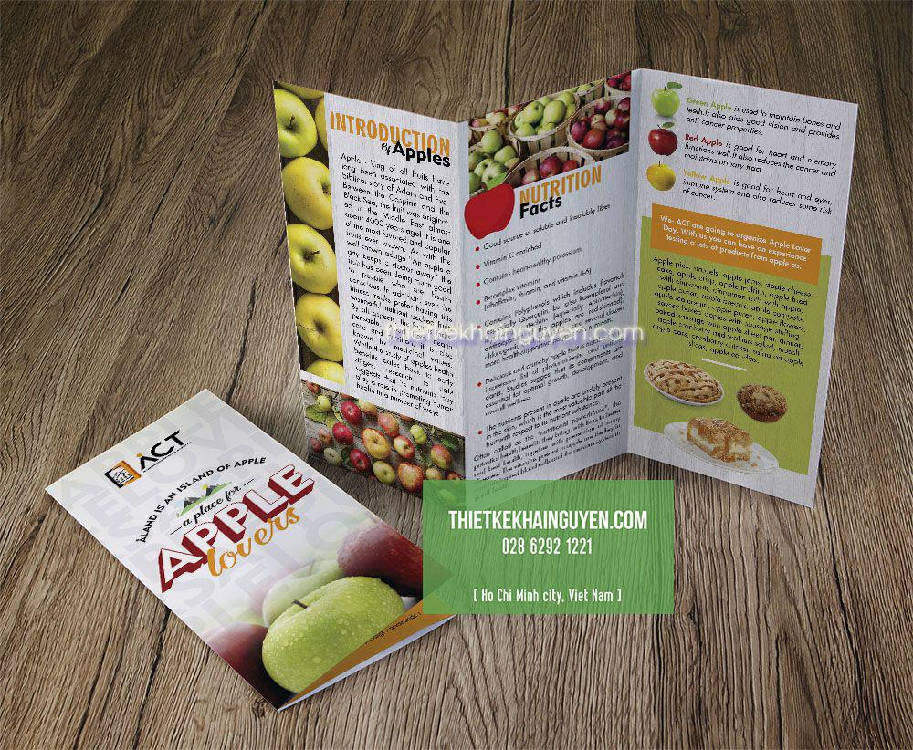 Mẫu brochure đẹp dùng để giới thiệu nông sản
